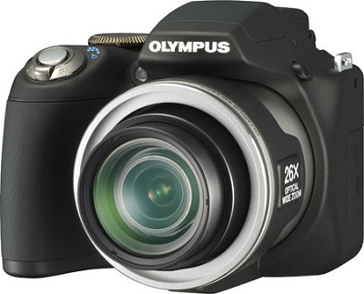SP-590 Ultra-Zoom 12MP 2.7` LCD Digital Camera (Black)