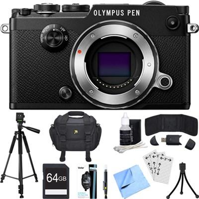 PEN-F 20MP Mirrorless Micro Four Thirds Digital Camera (Black) Accessory Bundle