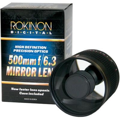 500mm F6.3 Mirror Lens  (Black Body) - ED500M-B - OPEN BOX