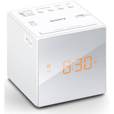 Alarm Clock with FM/AM Radio, White (ICF-C1WHITE)