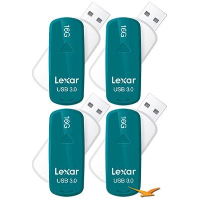 16 GB JumpDrive S33 USB 3.0 Flash Drive - 4 Pack