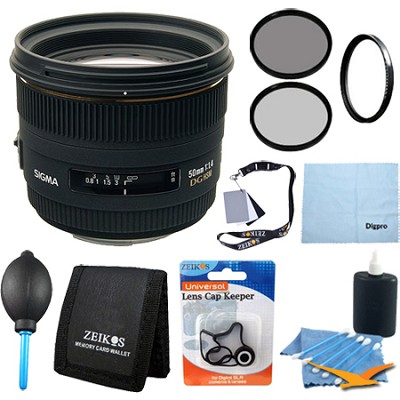 50mm F1.4 EX DG HSM Lens for Nikon Digital SLR Cameras - Pro Lens Kit