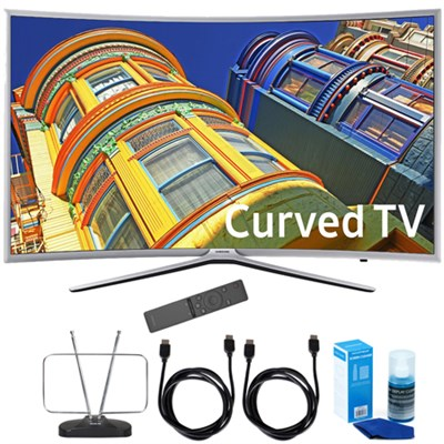 UN55K6250 Curved 55` 1080p FHD LED Smart TV K6250 6-Series + Cord Bundle