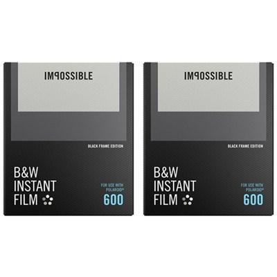 2-Pack Black & White Instant Film Black Frame for Polaroid 600-Type Cameras