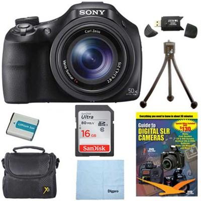 DSC-HX400V/B 50x Optiical Zoom 4K Stills Digital Camera 16GB Kit