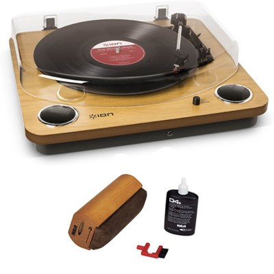 Max LP Belt Drive DJ Turntable With RCA Turntable Cleaning System