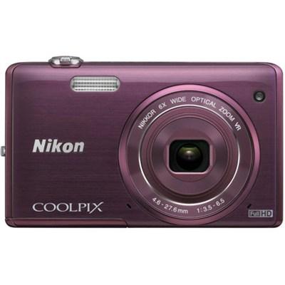 COOLPIX S5200 16 MP Built-In Wi-Fi Plum Digital Camera (Certified Refurbished)