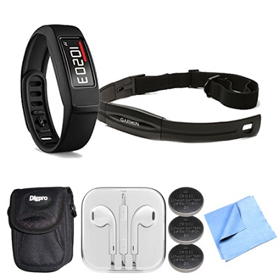 Vivofit Fitness Band Bundle with Heart Rate Monitor (Black)(010-01503-30) Bundle