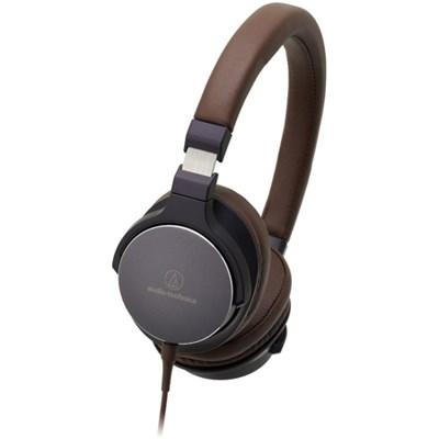 On-Ear High-Resolution Audio Headphones - Navy/Brown