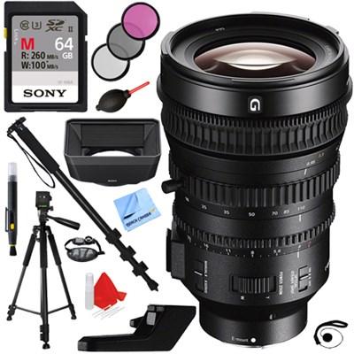 E PZ 18-110mm APS-C Super 35mm F4 G OSS E-mount Power Zoom Lens + 64GB Kit