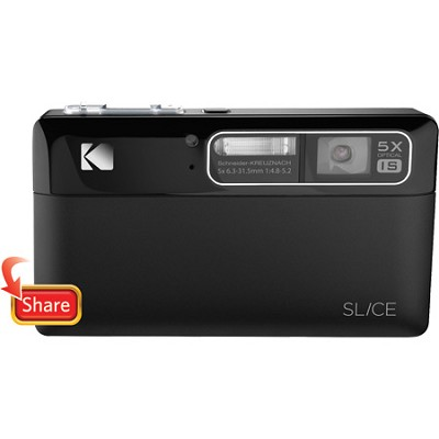 Slice 14MP 3.5` LCD Touchscreen Digital Camera (Black)