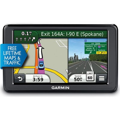 2595LMT 5` Portable Bluetooth GPS with Lifetime Maps and Traffic - Refurbished