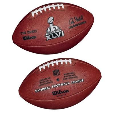 Super Bowl XLVI Official Game Ball Football