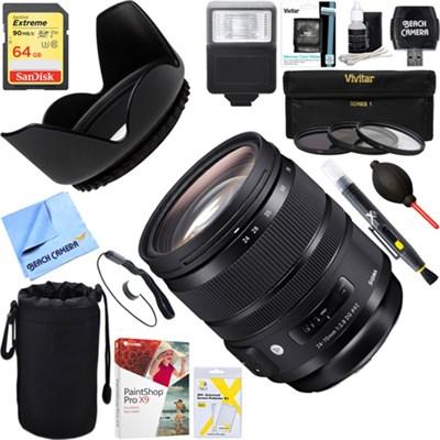 24-70mm F2.8 DG OS HSM Art Lens for Canon + 64GB Ultimate Kit