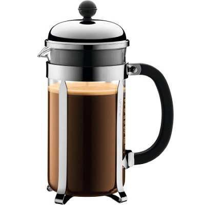 Chambord 8 cup 34 oz. French Press Coffee Maker - Chrome - OPEN BOX