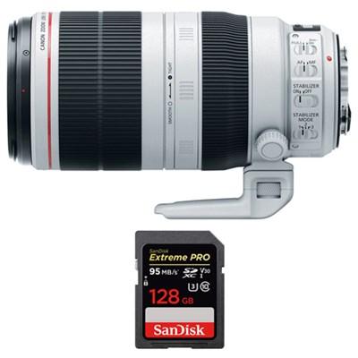 EF 100-400mm f/4.5-5.6L IS II USM Lens w/ Sandisk 128GB Memory Card