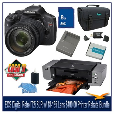 EOS Digital Rebel T2i SLR Camera w/ 18-135 Lens $400.00 Printer Rebate