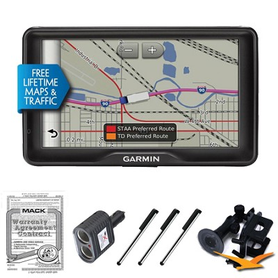 dezl 760LMT GPS with Free Lifetime Maps and Traffic Ultimate Bundle