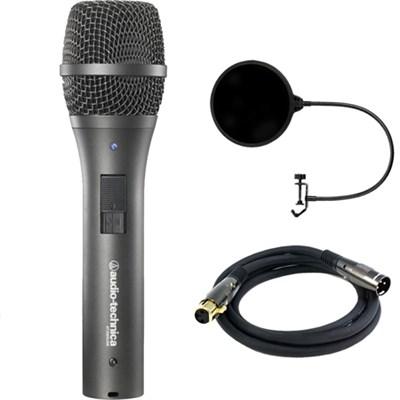 Cardioid Dynamic USB/XLR Microphone AT2005USB w/ Filter Bundle