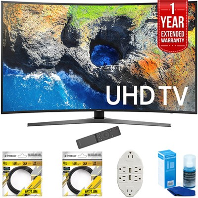 65` Curved 4K Ultra HD Smart LED TV 2017 Model w/ Extended Warranty Kit