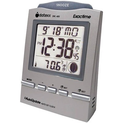 Radio Control Desk Alarm Clock with Month, Day, and Temperature