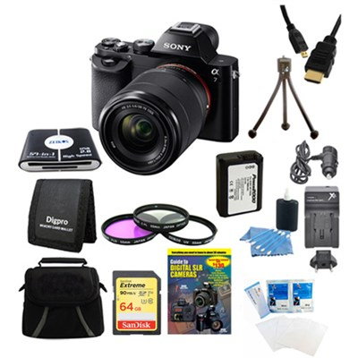 Alpha 7K a7K Digital Camera 64 GB SDHC Card Battery Bundle