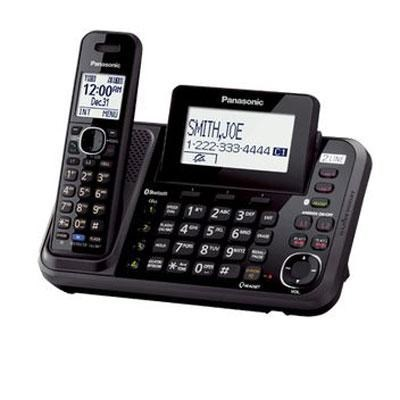 2-Line Phone with Answering Machine and 1 Cordless Handset - KXTG9541B