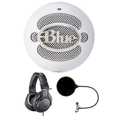 Condenser Microphone Cardioid SNOWBALL ICE w/ Headphone Bundle