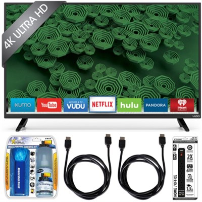 D65u-D2 65` Class Ultra HD 4K Full-Array LED Smart TV Essential Accessory Bundle