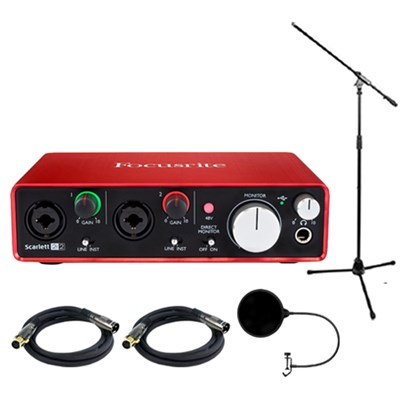 Scarlett 2i2 USB Audio Interface (2nd Generation) w/ Pro Bundle