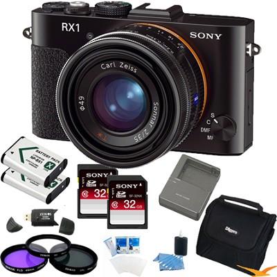 Cyber-shot DSC-RX1 24.3MP Exmor CMOS Digital Camera (Black) Value Bundle