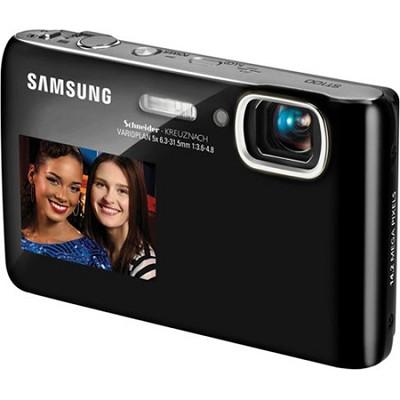 DualView ST100 14MP 3.5 inch Touchscreen Black Digital Camera w/ HD Video