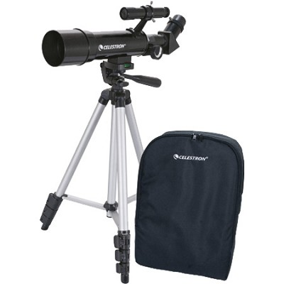 Travel Scope 50 Portable Telescope (Black)     OPEN BOX