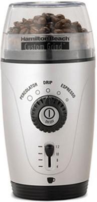 Custom Grind Hands-Free Coffee Grinder, Platinum, 80365