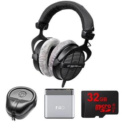 Professional Acoustically Open Headphones - 250 Ohms w/ FiiO A1 Amp. Bundle