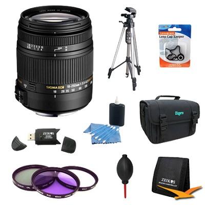 18-250mm F3.5-6.3 DC OS HSM Lens for Sony/Minolta w/ 62mm Filter Lens Kit Bundle