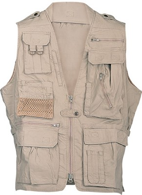 Safari Vest Khaki Large Size