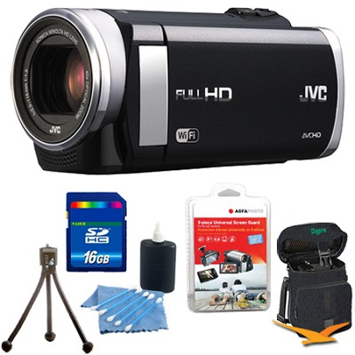 GZ-EX250BUS - HD Everio Camcorder 3` Touchscreen 40x Zoom f1.8 WiFi 16GB Bundle