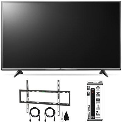 65UH6150 65-Inch 4K UHD Smart TV with webOS 3.0 Slim Flat Wall Mount Bundle