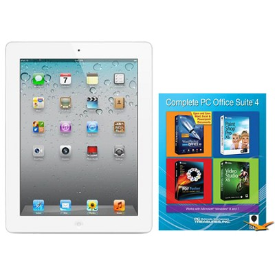 iPad 2 (16GB, Wi-Fi, White) Certified Open Box & Office Suite 4 for PC Bundle