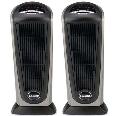 2-Pack 751320 RC Ceramic Tower Heater with Remote Control