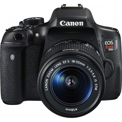 EOS Rebel T6i Digital SLR Camera with EF-S 18-55mm IS STM Lens Kit