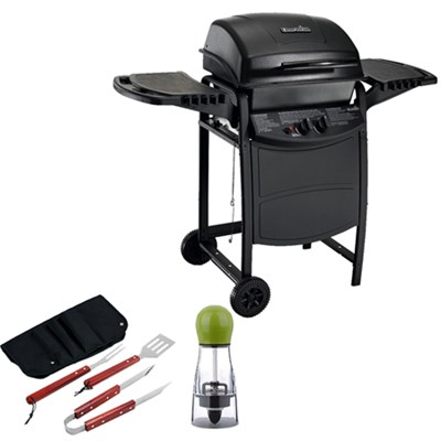 Traditional 280 SQ Inch Cooking Surface 2-Burner Gas Grill with BBQ Bundle