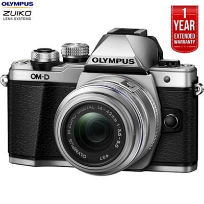 OM-D E-M10 Mk II Digital Camera +14-42mm Lens Silver + Extended Warranty -Refurb