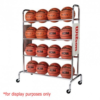 NCAA Deluxe 16 Basketball Ball Rack - OPEN BOX