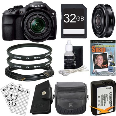 a3000 Interchangeable SLR with 18-55 and SEL 20mm f2.8 Bundle