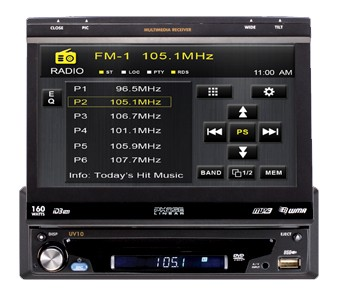 Phase Linear UV10 Flip Out MultiMedia Receiver with 7-Inch Touch Screen