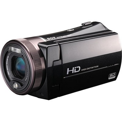1080p High-Definition Camcorder with 10MP Image Sensor, 5X Optical Zoom and 3` T