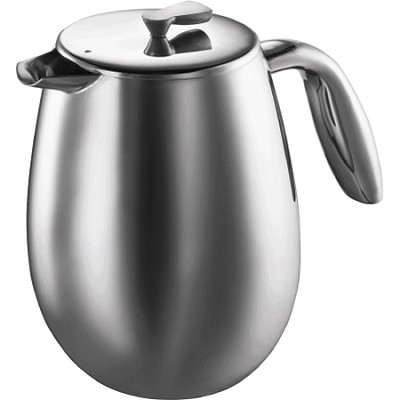 Columbia 12-Cup Stainless-Steel Thermal Coffee Press, 51 oz.