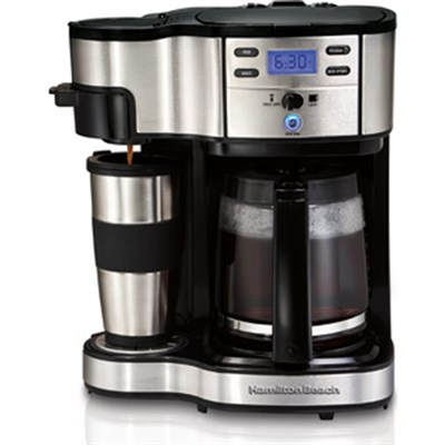 Two Way Brewer Single Serve and 12 cup Coffee Maker - OPEN BOX